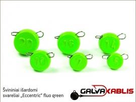 Svininiai svareliai Eccentric fluo green 02