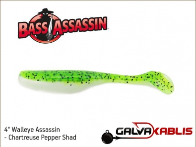 Walleye Assassin - Chartreuse Pepper Shad