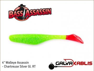 Walleye Assassin - Chartreuse Silver Gl RT
