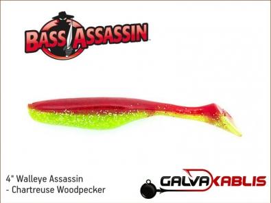 Walleye Assassin - Chartreuse Woodpecker