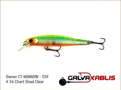 CT-MINNOW - 55F - 34 Chart Shad Clear
