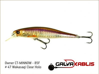 CT-MINNOW - 85F - 47 Wakasagi Clear Holo
