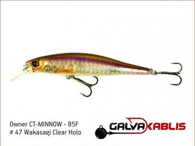 CT-MINNOW - 85F - 47 Wakasagi Clear Holo