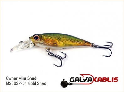 Mira Shad MS50SP-01 Gold Shad