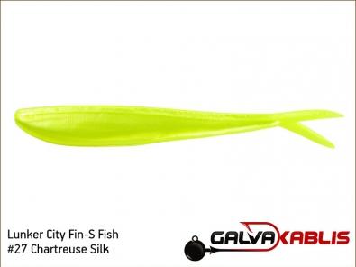 Lunker City Fin-S Fish 27 Chartreuse Silk