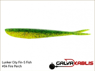 Lunker City Fin-S Fish 04 Fire Perch