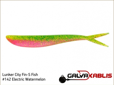 Lunker City Fin-S Fish 142 Electric Watermelon