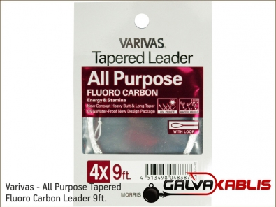 Varivas - All Purpose Tapered Fluoro Carbon Leader 9ft