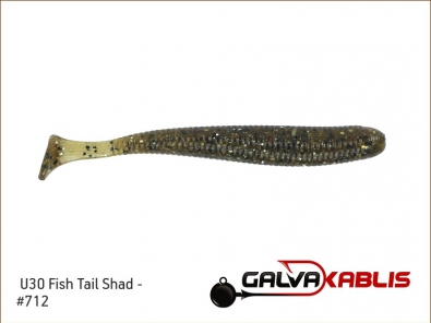 U30 Fish Tail Shad 712
