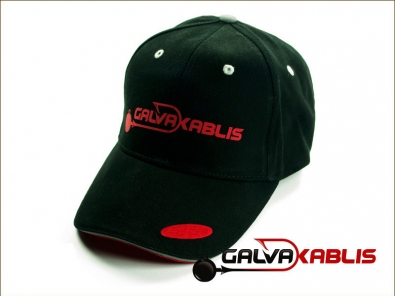 Galvakablis kepuraite black red
