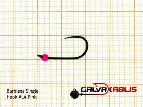 Barbless Single Hooks SizeL4 2 8 mm