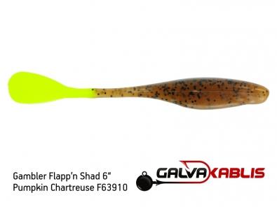 Gambler Flappn Shad 6 Pumpkin Chartreuse F63910