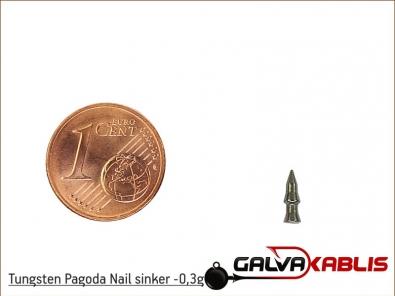 Tungsten Pagoda Nail sinker 0 3