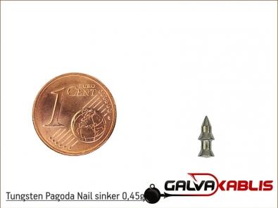 Tungsten Pagoda Nail sinker 0 45