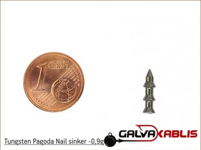 Tungsten Pagoda Nail sinker 0 9