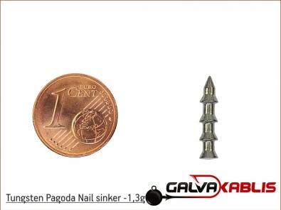 Tungsten Pagoda Nail sinker 1 3