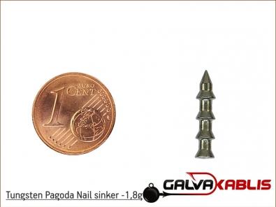 Tungsten Pagoda Nail sinker 1 8