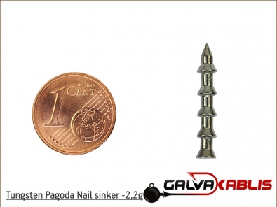 Tungsten Pagoda Nail sinker 2 2