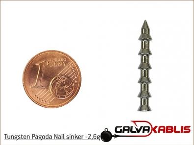 Tungsten Pagoda Nail sinker 2 6