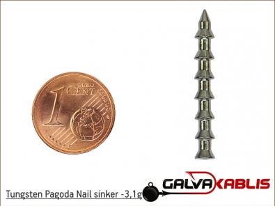 Tungsten Pagoda Nail sinker 31