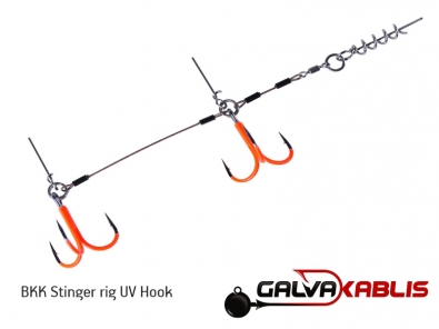 BKK Stinger rig UV Hook