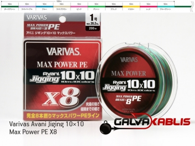 Varivas Avani Jiging 10×10 Max Power PE X8